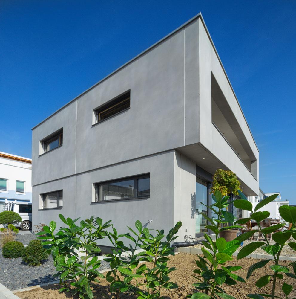 Alu-Holz-Fenster Beton