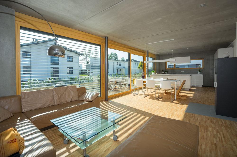Hebe-Schiebe-Tür Holz
