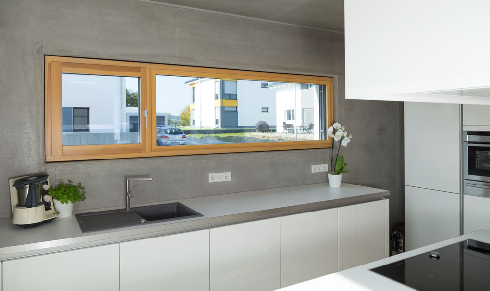 Alu-Holz-Fenster Küche