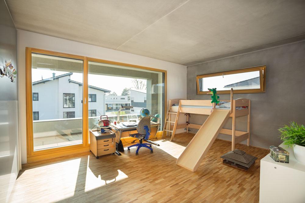 Alu-Holz-Fenster Kinderzimmer