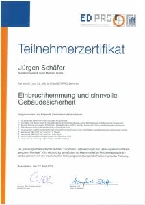 J. Schäfer - Einbruchhemmung und sinnvolle Gebäudesicherheit