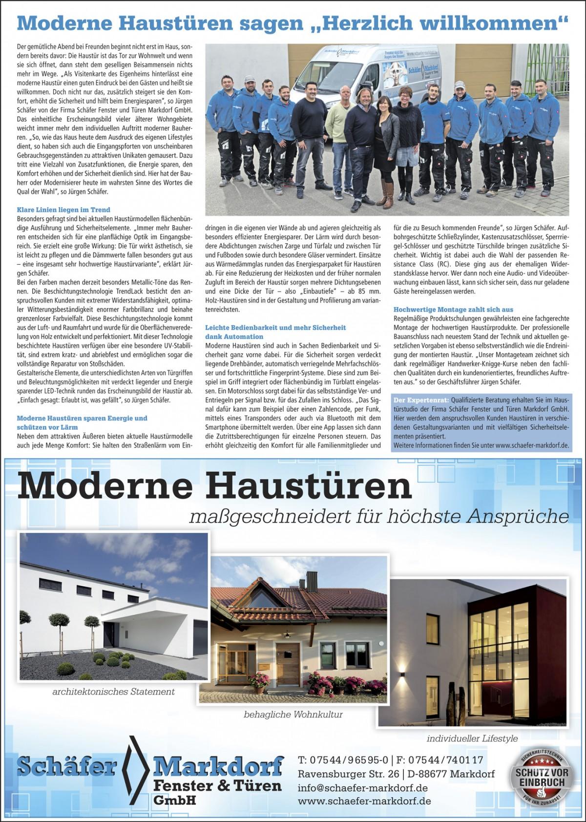 Moderne Haustüren von Schäfer Fenster & Türen Markdorf